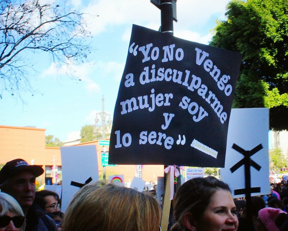 Soy, Mujer!... and what?! Iamwomanhearmeroar Vivalamuxer Notsorry Womensmarch Womensmarchla Losangeles DTLA Mycitymydreams NOTMYPRESIDENT Protest Streetphotography California Stand Up Speakup EyeEmNewHere Unity Empowerment  OneLove People Women Around The World
