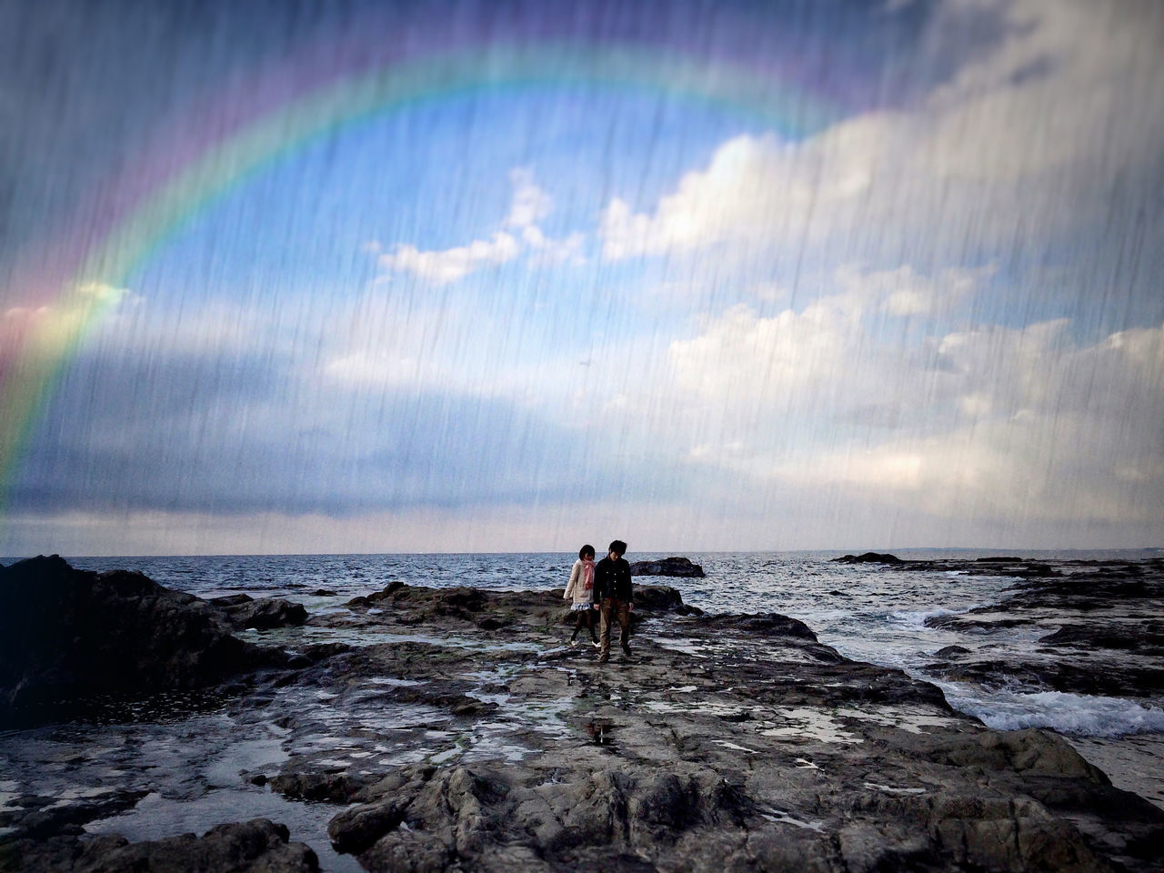 Beautiful stock photos of rainbow, Beauty In Nature, Cloud - Sky, Day, Horizon Over Water
