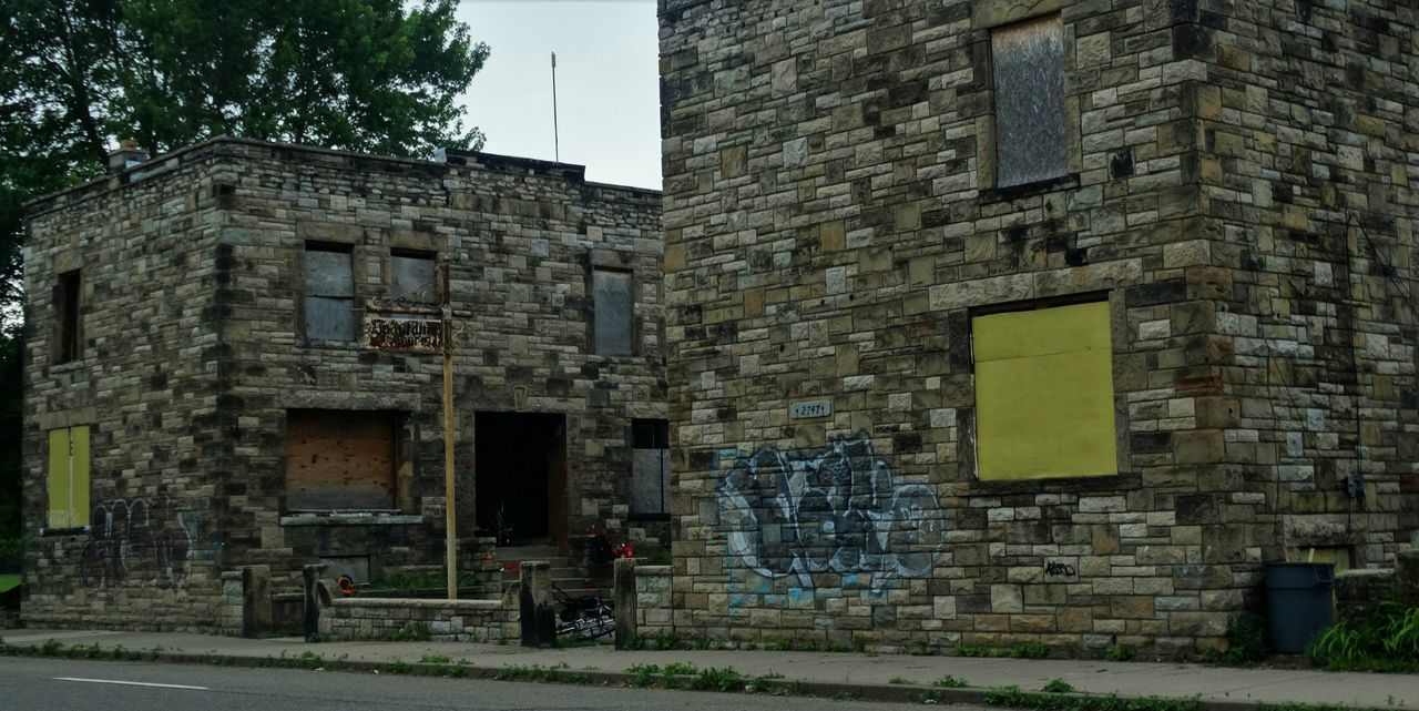 Detroit Decrepit Old Buildings Run Down Places