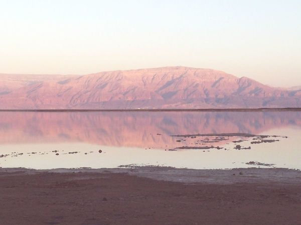 Learn & Shoot: Balancing Elements.Dead see-Israel, the lowest spot in the world. Mountain reflecting on dead see water. Hanging Out Check This Out Taking Photos Blue Sky Sunset Mountains Reflection Reflecting Water Dead Sea