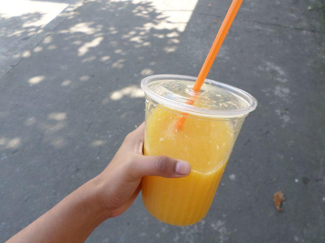 Orange juice Street Photo One Person Only Women Pose Rara Walking On The Street Lonly Day