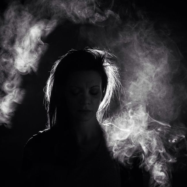 Somerset,KY. 2016 Light Portrait Silhouettes Portrait Of A Woman Kentucky  Somerset Light And Shadow Silhouette Smoke Blackandwhite Black And White Monochrome Blackandwhite Photography Eye4black&white  Black & White The Portraitist - 2016 EyeEm Awards Monochrome Photography