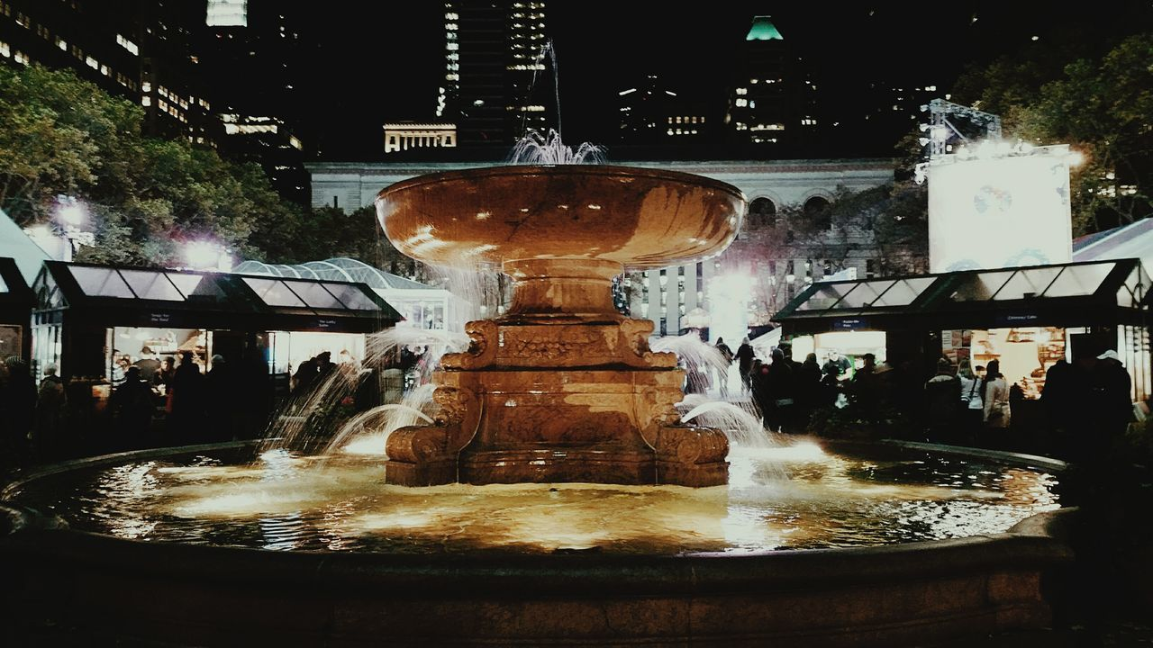 Bryant Park Fountain back in December NYC Bryantpark TBT  Winterisalmostover December Check This Out New York City Cities At Night