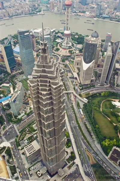 Shanghai Lujiazui Jin Mao Tower Jin Mao Building Skyscraper Cityscape City Aerial View Downtown District Building Exterior Traveling Home For The Holidays 3XSPUnity