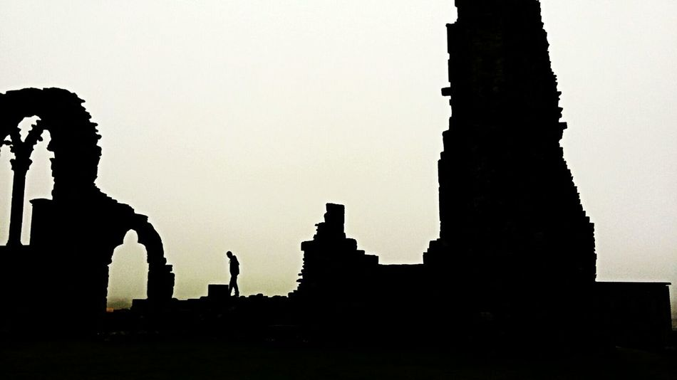 Whitby Abbey Foggy Day Spooky Atmosphere Mistic Silohette Landscape/old Building