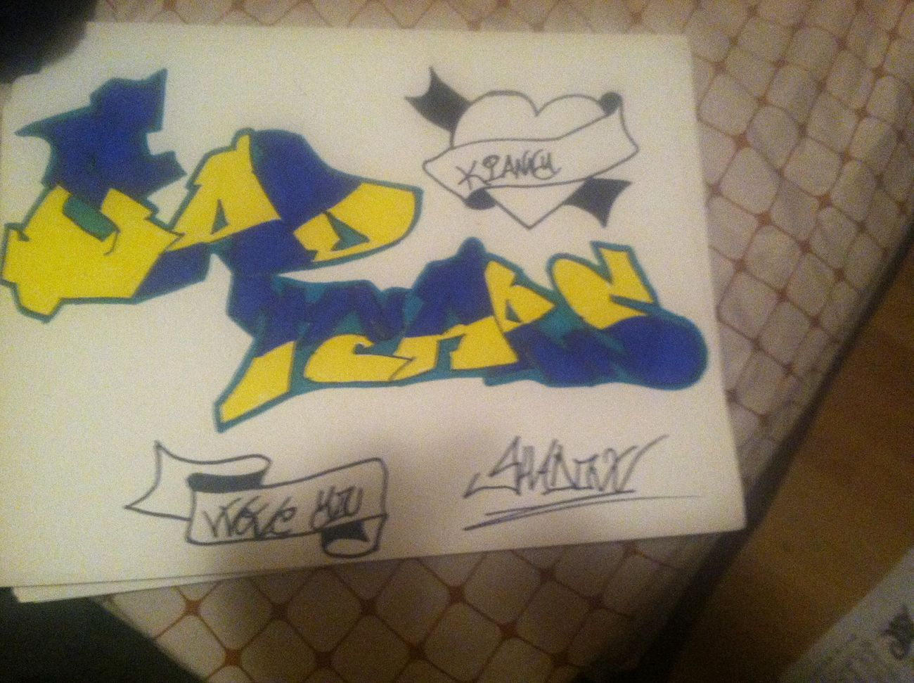 Drawing I made for my homegirl Graff MyArt My Life