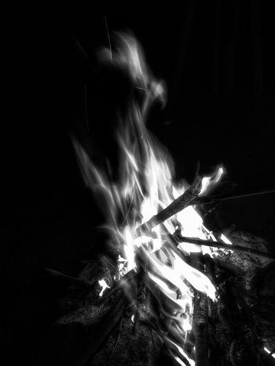 Outdoors Campfire Bonfire Monochrome Blackandwhite Fine Art Photography