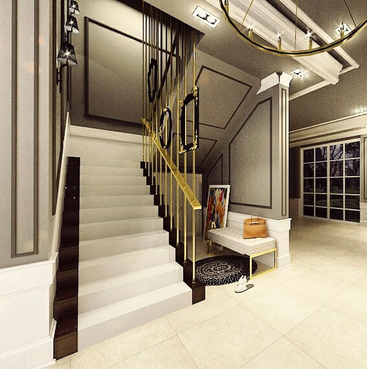 Modern Indoors  Diminishing Perspective Architectural Column Beautiful People Interior Design Mydesign