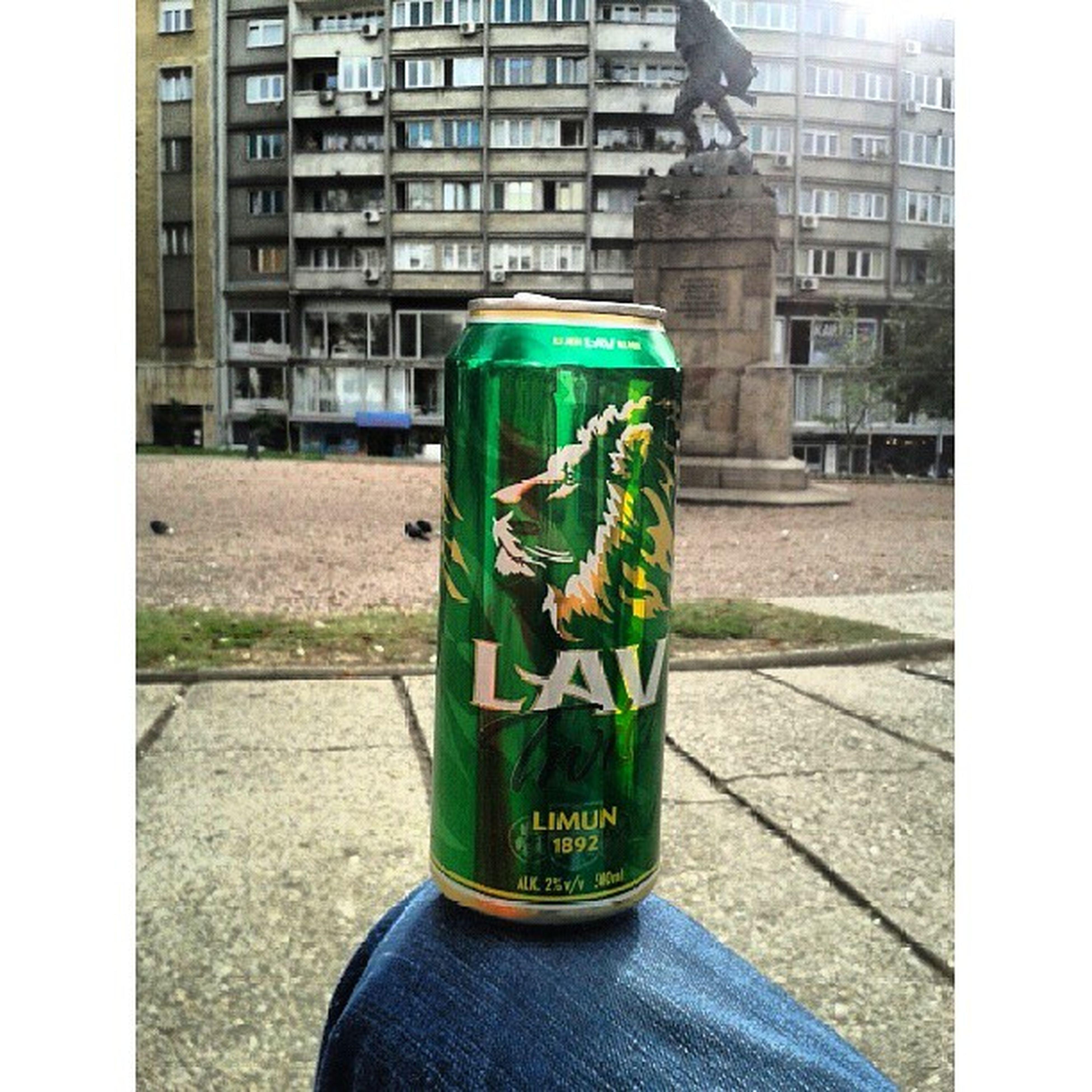 Lemon beer Lav Beer Beograd Park Public drink drunk