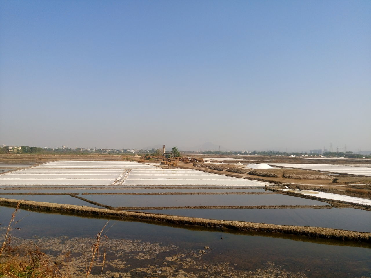 Agriculture Beauty In Nature Clear Sky Day Landscape Nature No People Outdoors Salt - Mineral Salt Basin Salt Flat Scenics Sky Snow Tranquil Scene Tranquility Water Winter