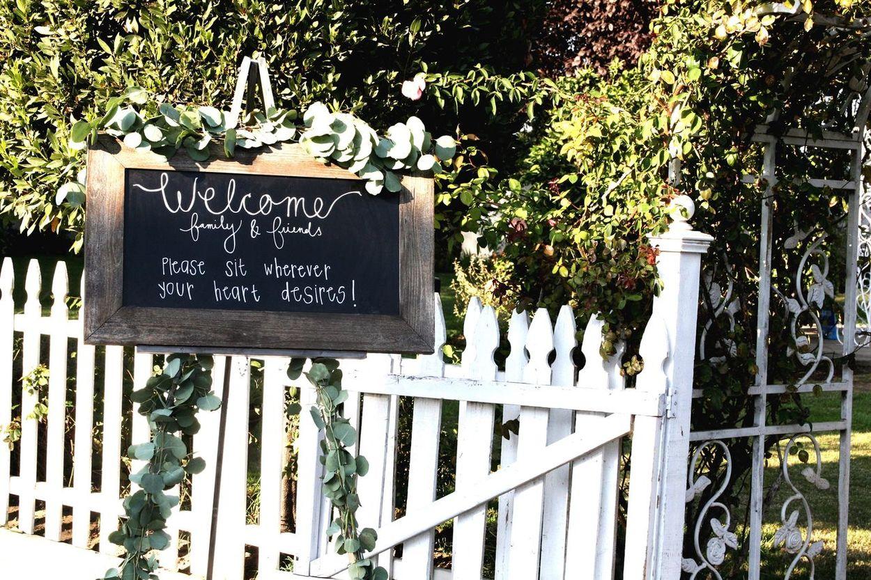 Welcomesign Weddingphotography Picketfence Chalkboard Eucalyptus