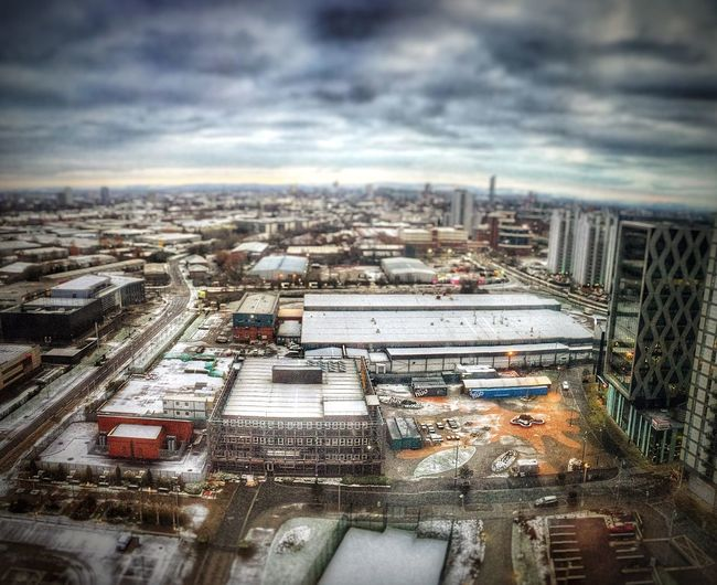The view of MediaCity UK from the 16th floor of the HolidayInn Express. Tiltshift Mediacityuk First Eyeem Photo