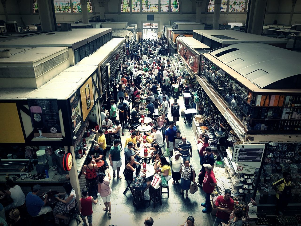 Crowd Large Group Of People High Angle View People Architecture Built Structure Indoors  Day Brazil EyeEmNewHere TCPM Getty Images Premium Collection The Street Photographer - 2017 EyeEm Awards Mercado Mercado Municipal De São Paulo Sao Paulo - Brazil