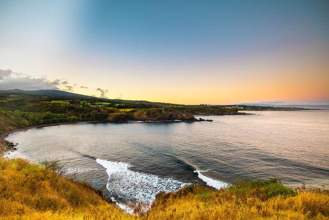 Landscape Hawaii Sunrise_sunsets_aroundworld Sunrise Maui Hawai'i Honolua Bay