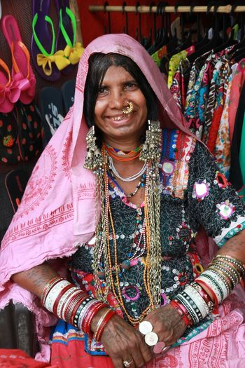 Travel India Face Woman Portrait Elder