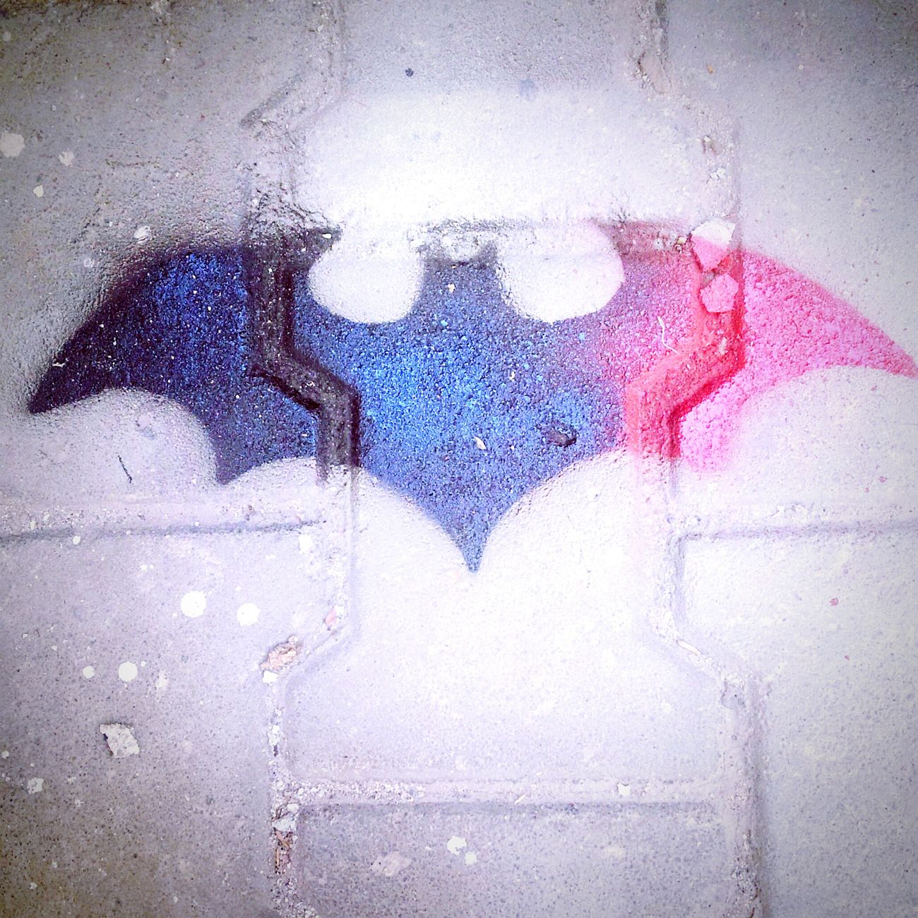 Batman Blue Red