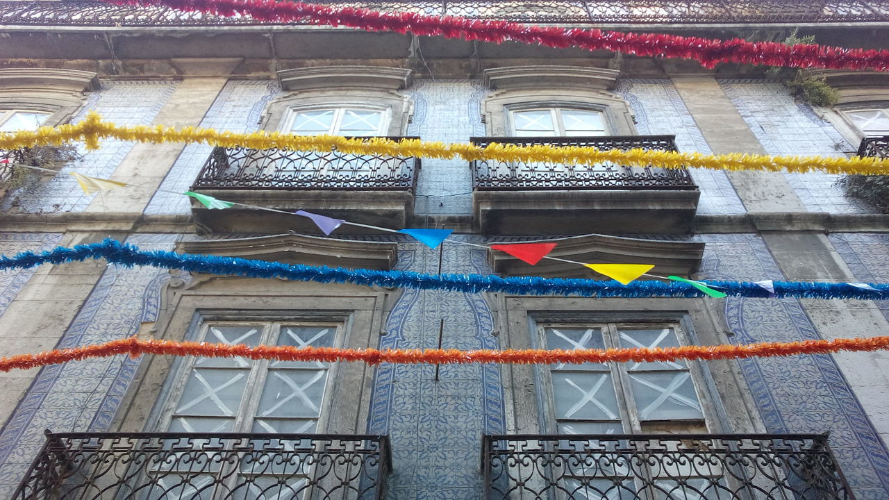 Low Angle View Of Decoration Outside Building