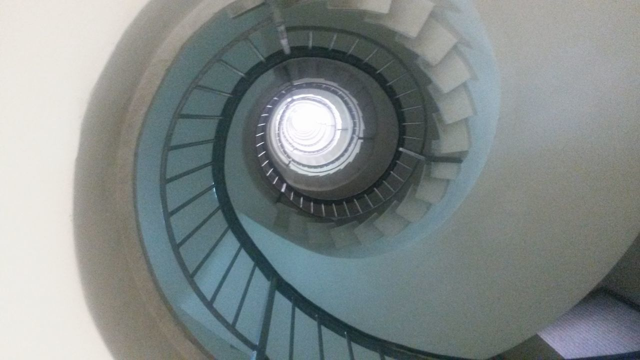 staircase, spiral, architecture, steps and staircases, built structure, steps, railing, spiral stairs, design, stairs, no people, indoors, spiral staircase, hand rail, day