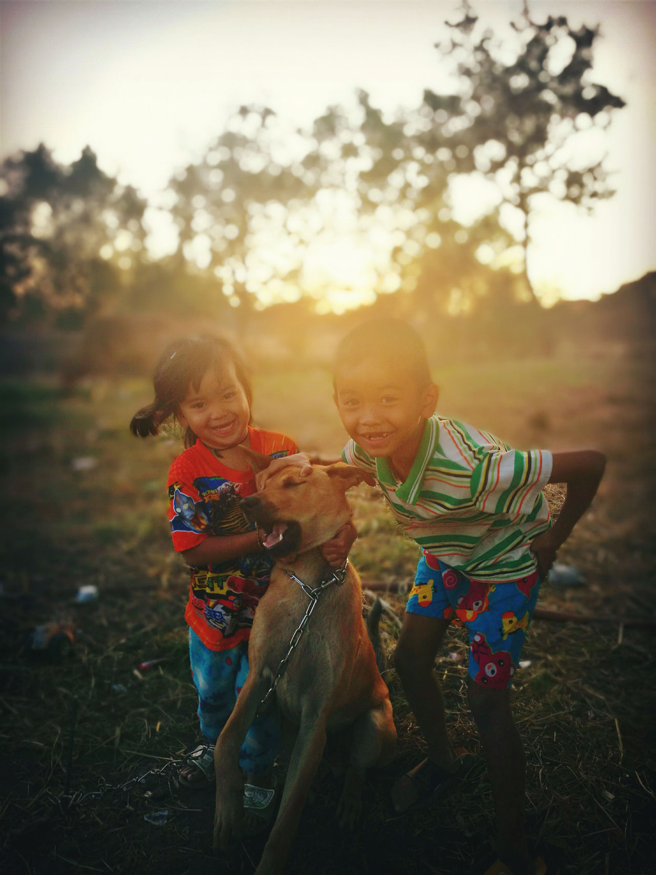 Sunset Smile Two People Togetherness Child Family Smiling Sunset Happiness Offspring People Outdoors Females Nature Adult Cheerful Light Effect Wheat Day