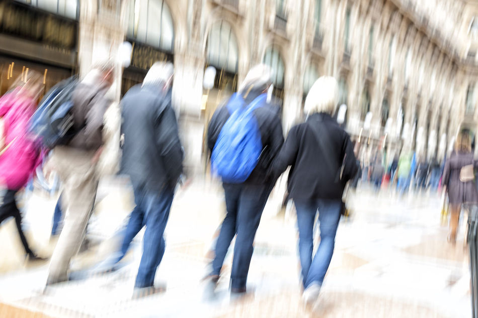 Shopping crowd walking on sidewalk Adult Adults Only Blur Blurred Motion Commuters Concept Crowd Customer  Day Men Motion Motion Blur Moving Outdoors Outdoors❤ Pedestrian People Rear View Sidewalk Silhouette Stream Unrecognizable Unrecognizable People Unrecognizable Person Walking