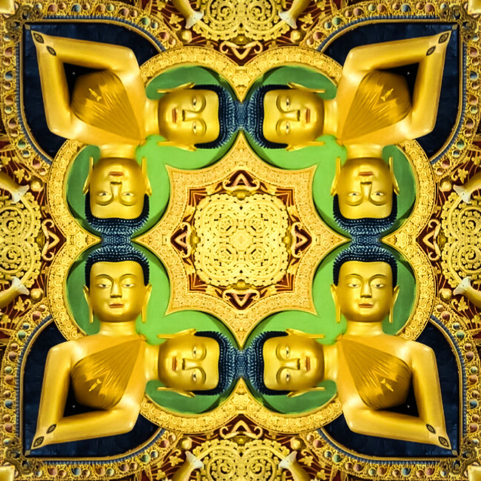 Mandala golden Buddha , symbols , yoga meditation , spirituality anahata chakra by elvio No People Yogainspiration Fine Arts Photography Digital Manipulation Surrealism And Fantasy Art Chakras Meditation Artphotography Gold Temple Architecture Buddha Art Art Is Everywhere EyeEm Diversity