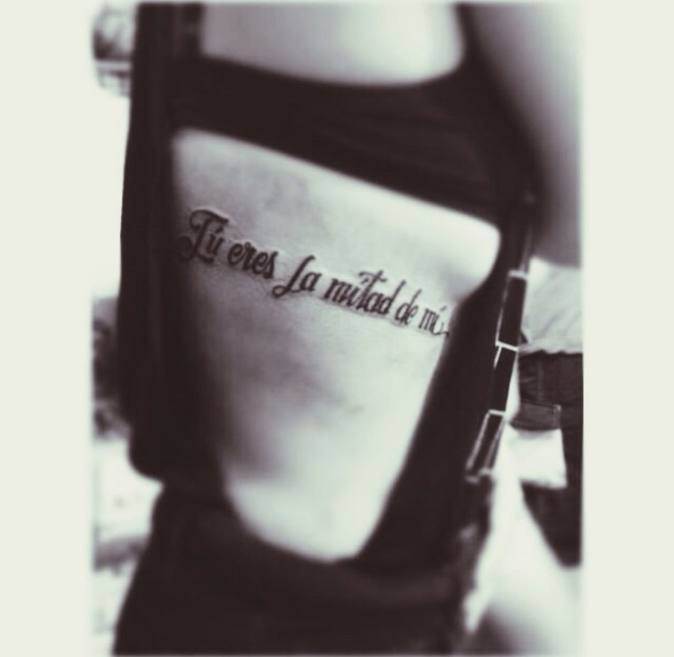 """You are the half of me."" Tattoo Tattoo Script Inked Tattoo Blog"