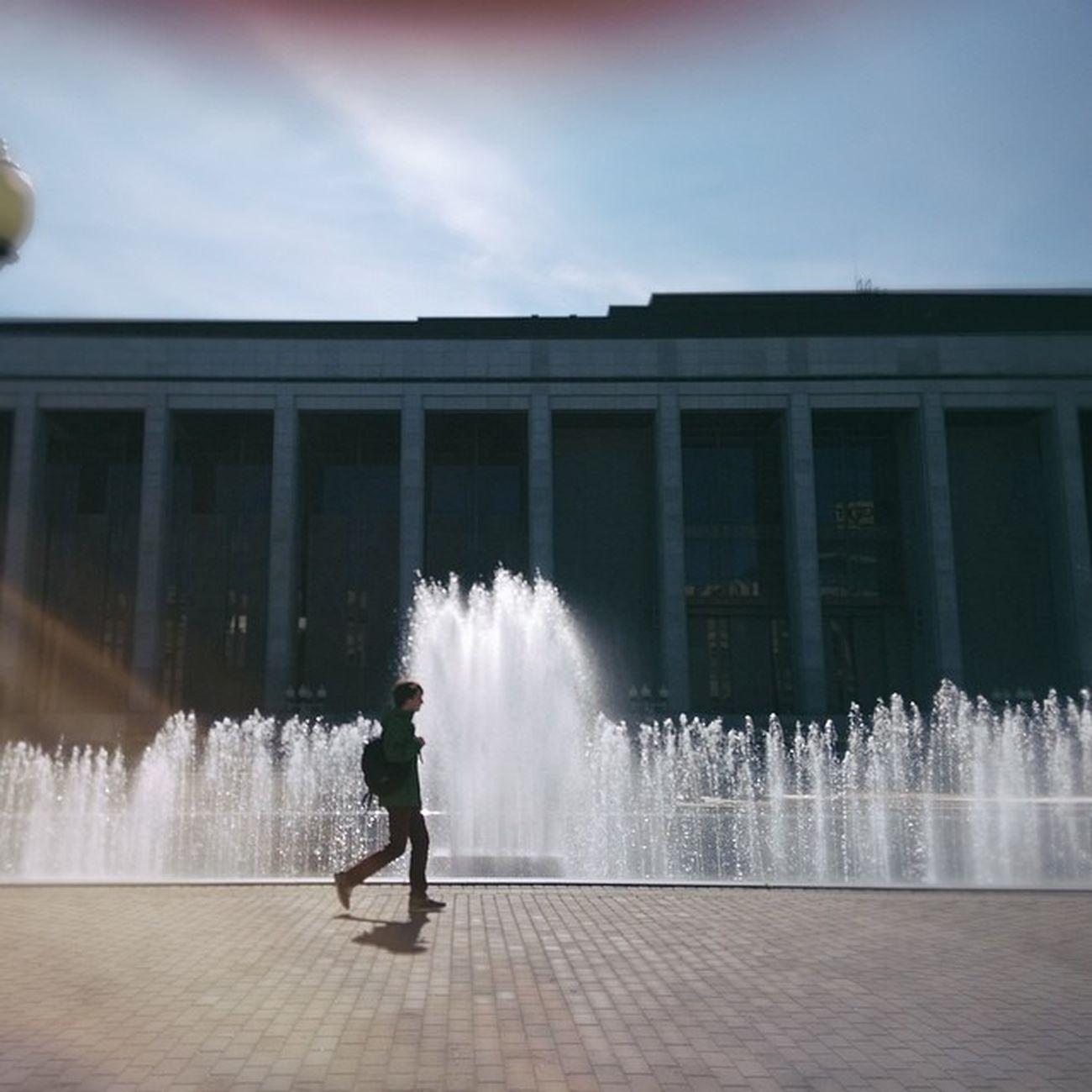 Город жив, город дышит Cityminsk Test Fountain