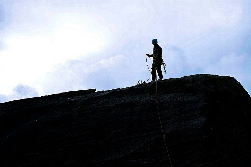 Silhouette Climber Northumberland Harbottle Crag Outdoors Photoshopexpress Xm1 Fujifilm