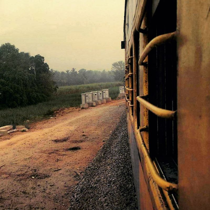 #Incredible India #India #journey #MobilePhotography #Mysore #Shot On Android #sunset #sun #clouds #skylovers #sky #nature #beautifulinnature #naturalbeauty #photography #landscape #Train #trainstation