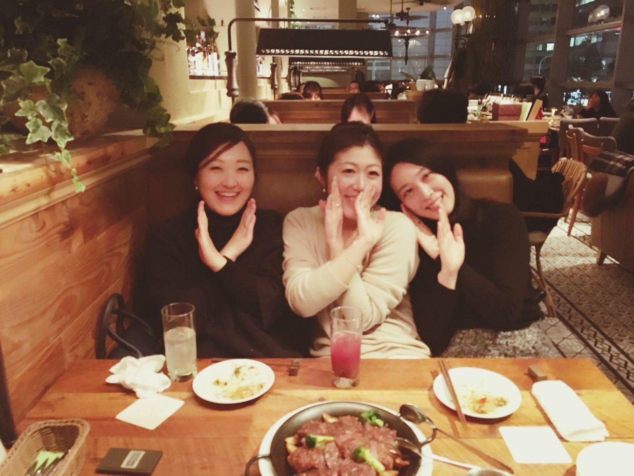 Girl Girls Frends Happy :) Smile Happy 新年会 Tokyo Dinner Enjoying Life Yammy!!