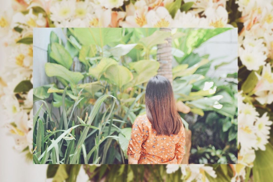 Rear View One Person Real People Childhood Day Leaf Sitting Outdoors Women Nature People Adult Adults Only Portrait Of A Woman Portrait Leaves Brownleaves Muse Back Aboutface Manila Philippines Break The Mold