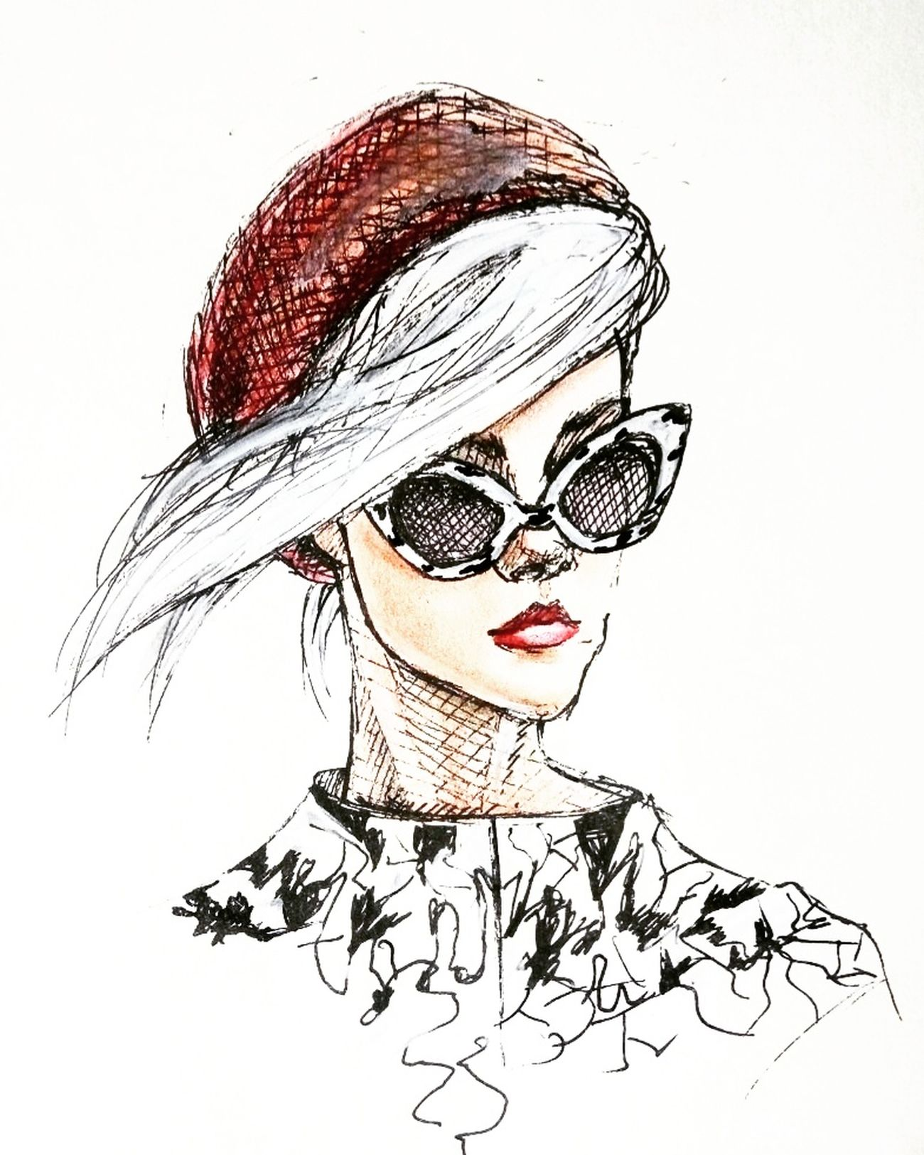 Quicksketch Pen Drawing Portrait MyArt Graphics Art Colored Pencil Fashionillustration Illustration