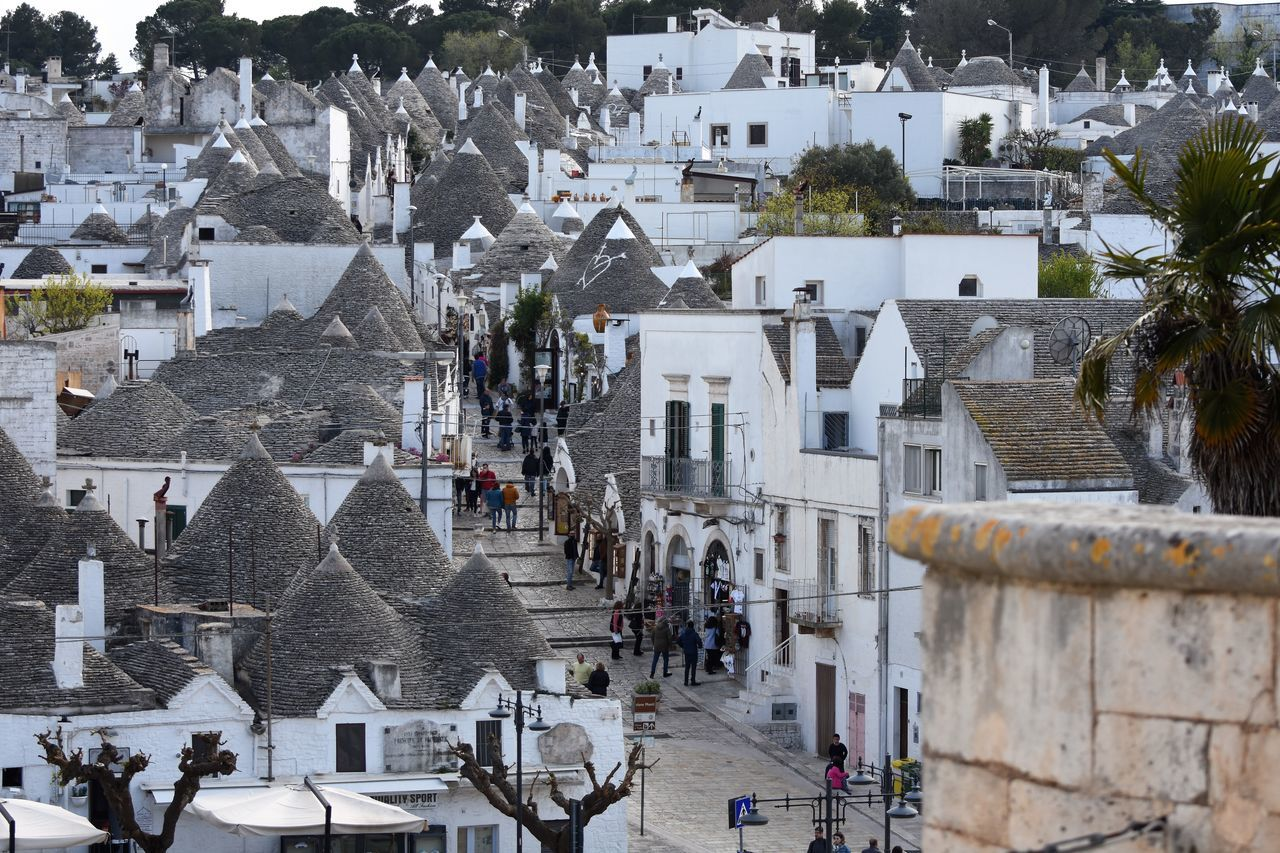 Architecture Building Exterior Built Structure City Cityscape Community Crowd Day Large Group Of People Outdoors People Religion Travel Destinations Travel Photography Traveling Travelling Tree Trulli Trulli Houses Trullilovers Trullo