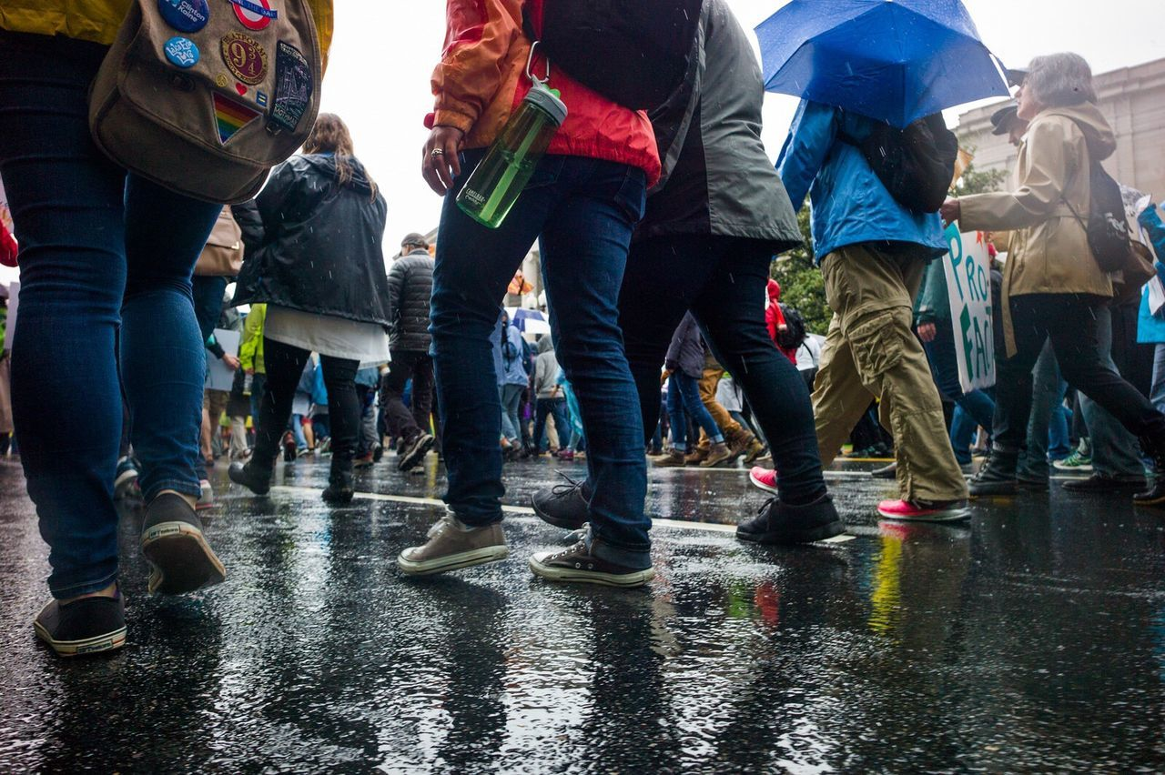 Environment Wet Rain Protestor Large Group Of People MarchforScience March For Science Washington, D. C. Leicacamera Science Resist March Fight