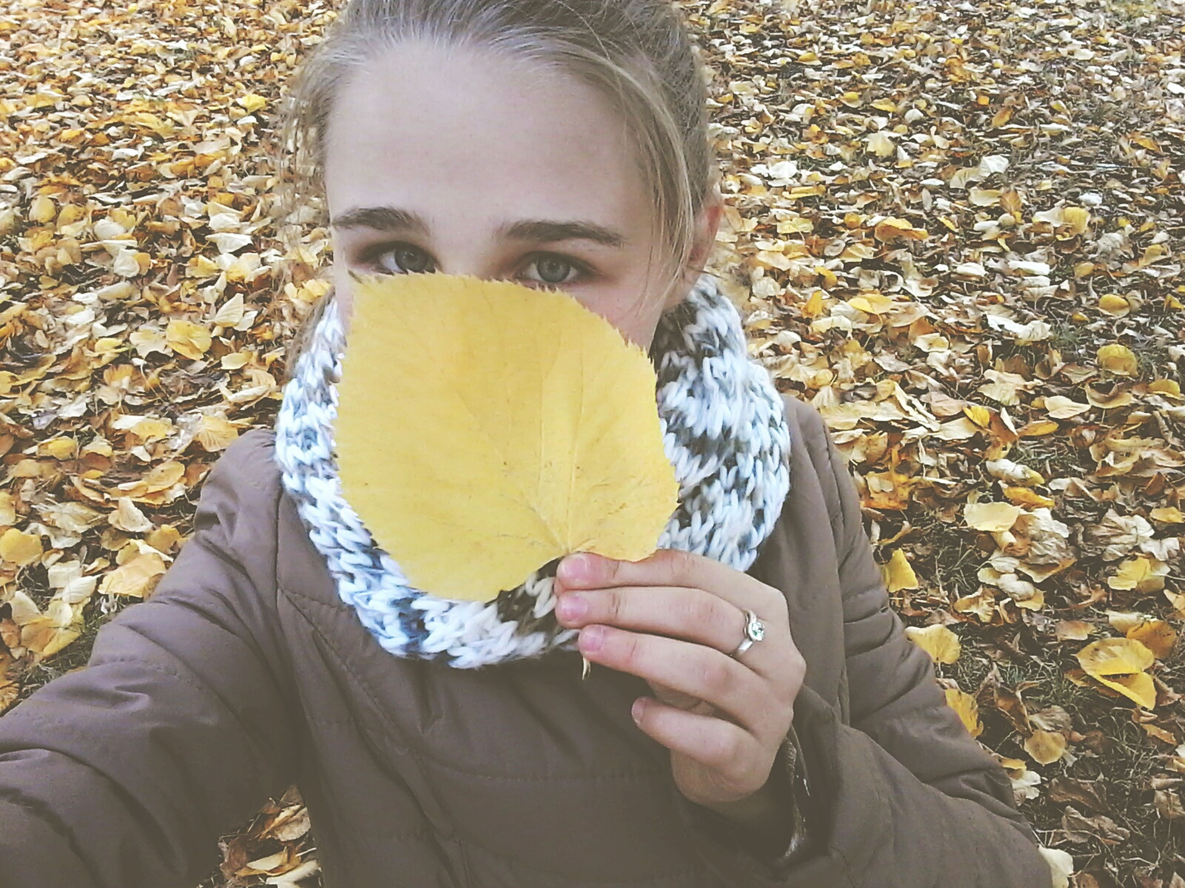 holding, season, autumn, freshness, casual clothing, outdoors, day, beauty in nature, tranquility