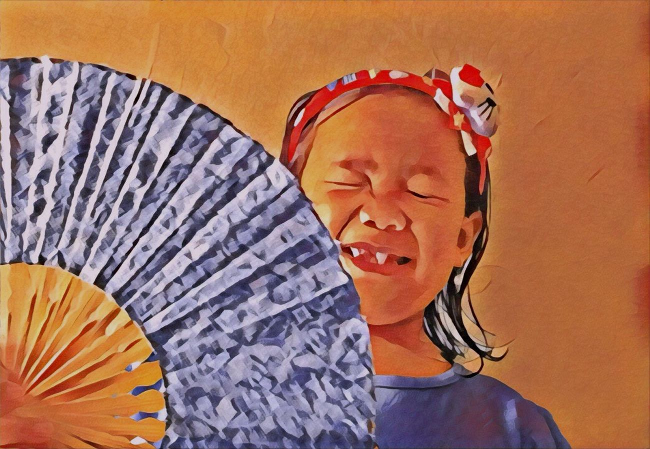 Prisma Prisma App Prismacolor Uniqueness EyeEmNewHere Lifestyles Orange Color Real People One Person Traditional Clothing Outdoors Day @Edit_Junkie ArtWork EyeEm Best Edits Taking Photos