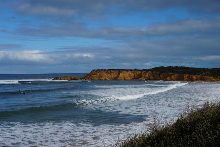Australia Great Ocean Road Rock Beach Beauty In Nature Cloud - Sky Day Grass Horizon Over Water Landscape Nature No People Outdoors Sand Scenery Scenics Sea Sky Tranquil Scene Tranquility Water Wave