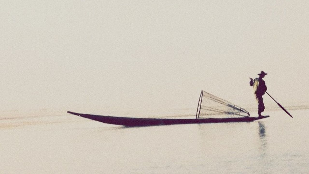 transportation, men, occupation, full length, one person, nautical vessel, mode of transport, side view, standing, water, adult, day, one man only, fisherman, adults only, real people, nature, outdoors, only men, people, sky
