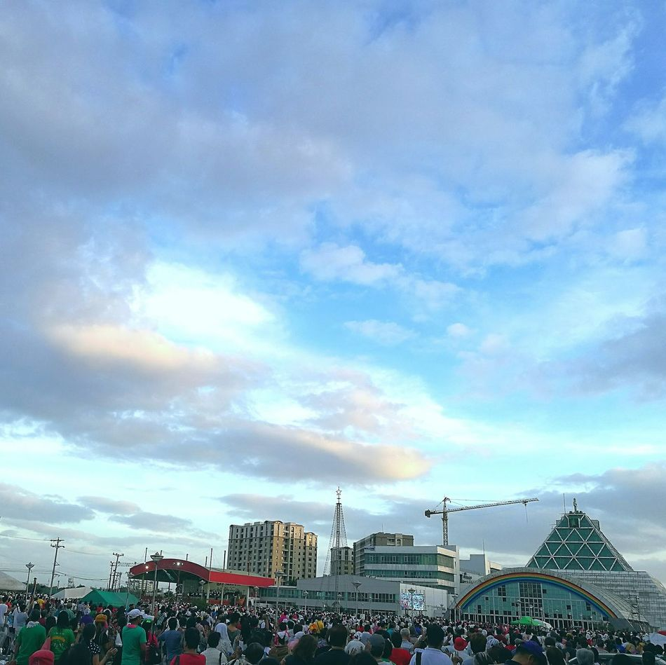 Sky Cloud - Sky Outdoors City Tree Nature Large Group Of People Day People Gatherings Prayers Prayer Meeting Catholic El Shaddai Philippines