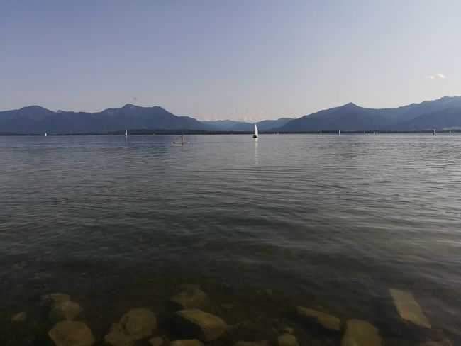 Mountain Landscape Tranquility Sea Nature Water Chiemsee Mountains