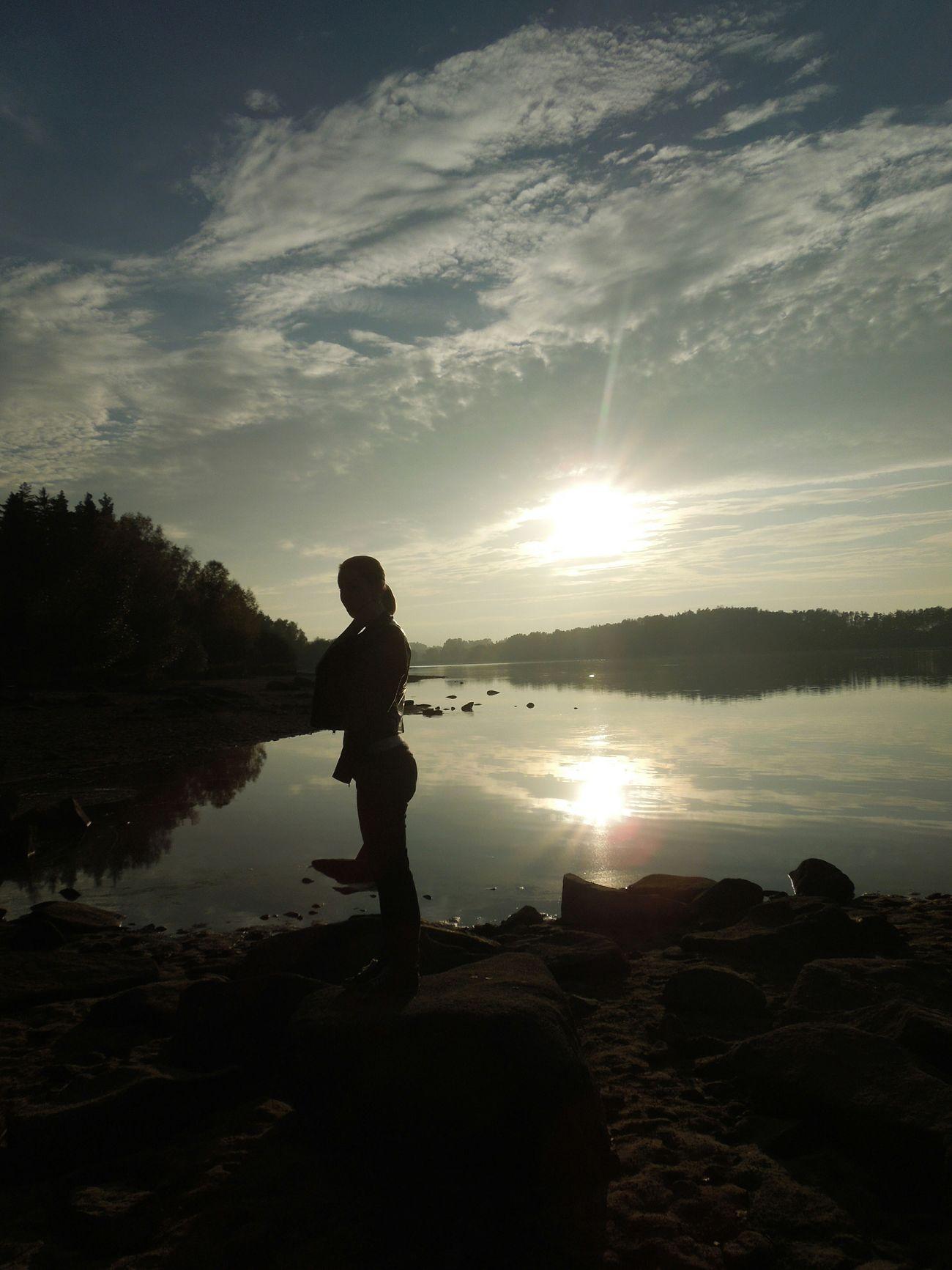 Friend Sunset Water Nature