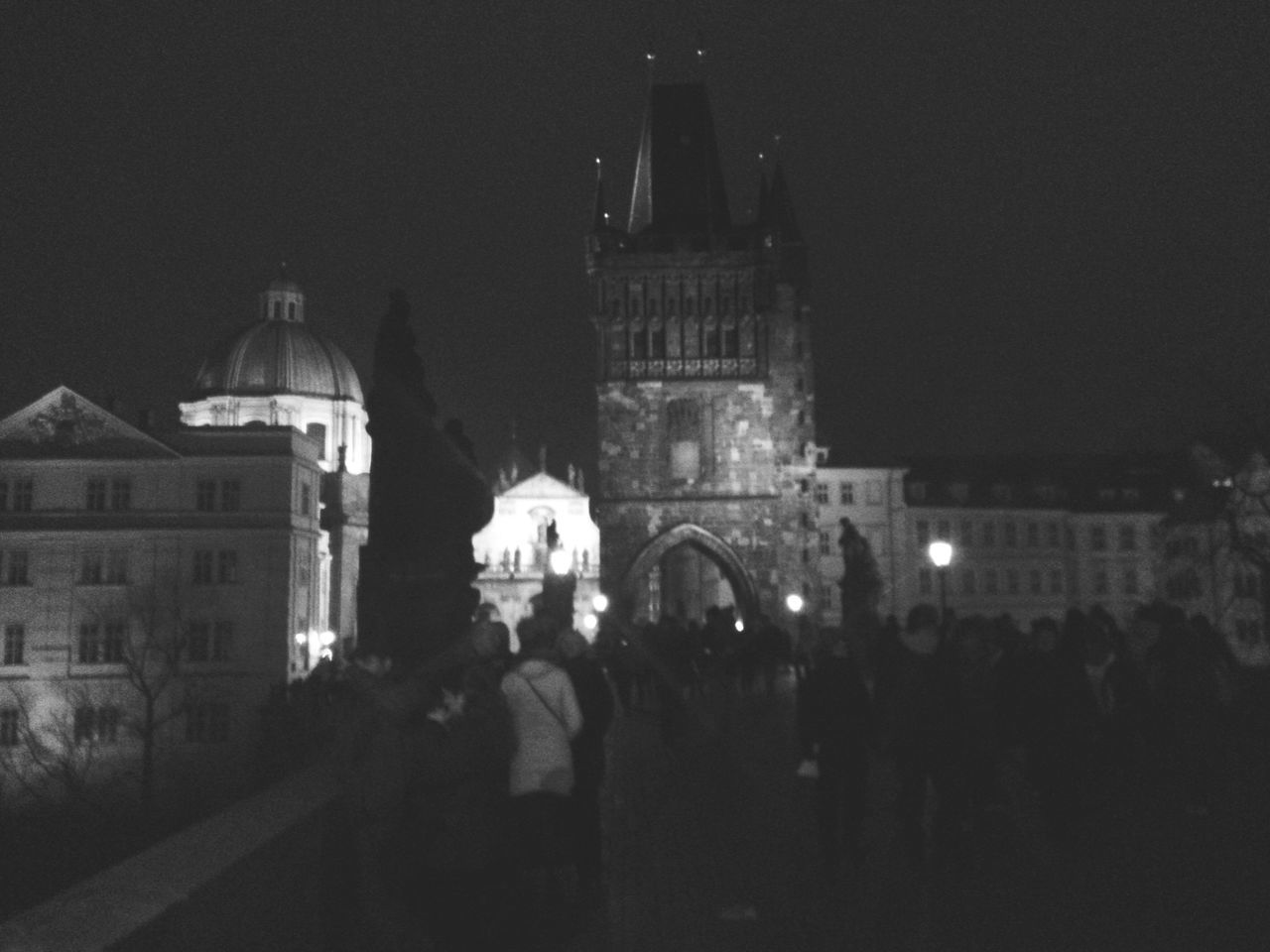 Karlstorbrücke New Years Eve Prague