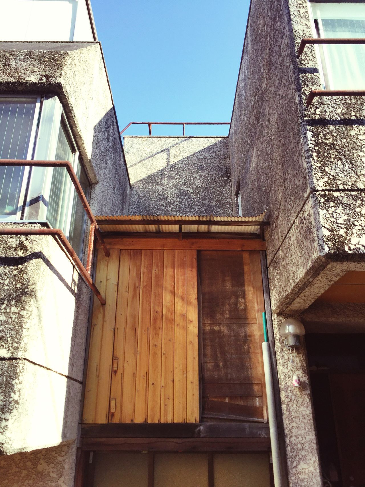 Tokyo Architectural Building Exterior Architecture Built Structure House Window Low Angle View No People Residential Building Outdoors Clear Sky Day Balcony Sky Wooden Door Textures And Surfaces Rustic Style Tokyo Architecture