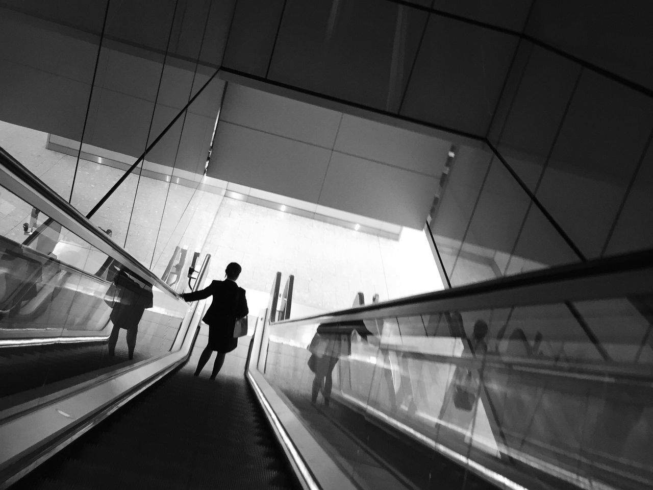 Transportation Modern Moving Walkway  Darkness And Light Silhouette EyeEm Best Shots - Black + White Monochrome Bw_collection
