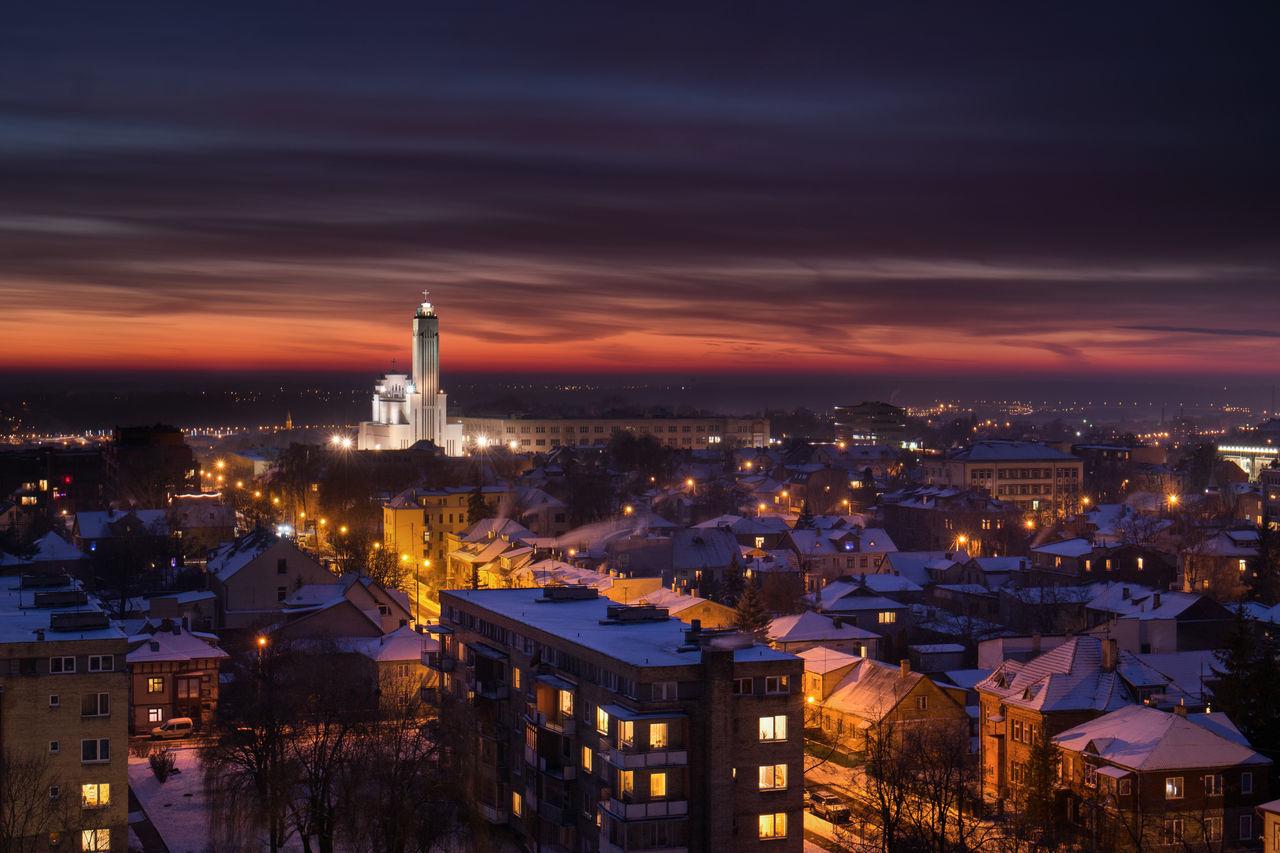 Kaunas Kaunas At Night Winter Cityscape First Eyeem Photo