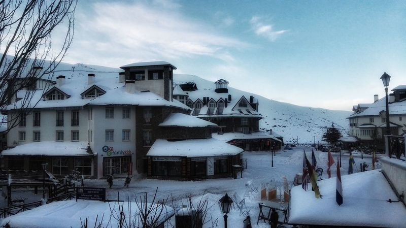 Snow Cold Temperature Winter Weather Frozen Sky Outdoors Building Exterior Architecture Mountain Nature