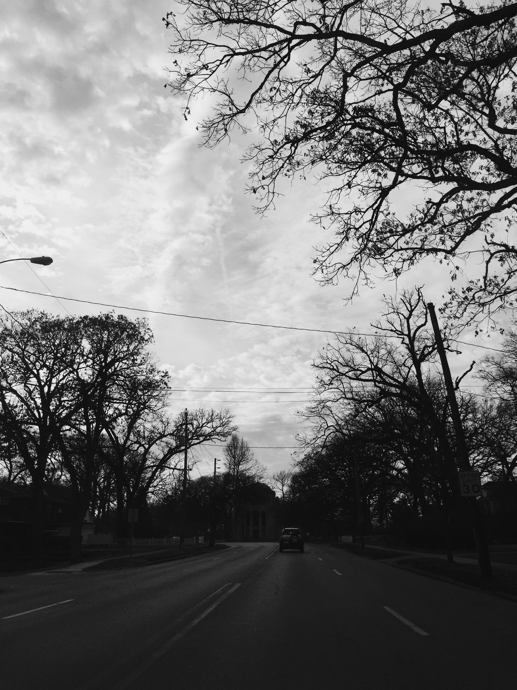 On the way home Drive Roads Clouds Architectural Nature Blackandwhite