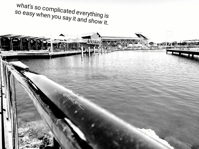 Isn't how its supposed to be.... Water Outdoors Sky Building Exterior Nature Day Freedom Fresh Vision Lifestyles Beautiful Motivation Inspired By Nature Inspired Beauty  Life People Photography Bridge - Man Made Structure
