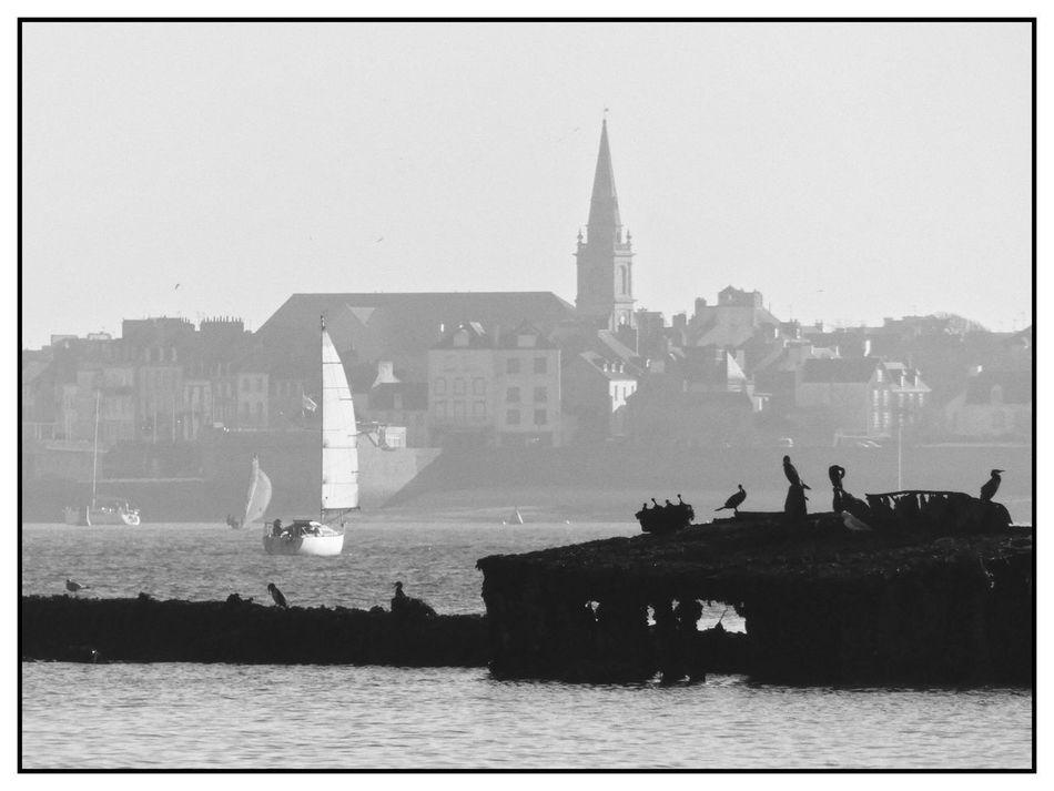 Architecture Bretagne Bw_collection Day Lorient No People Noir Et Blanc Outdoors Sea Travel Destinations Water