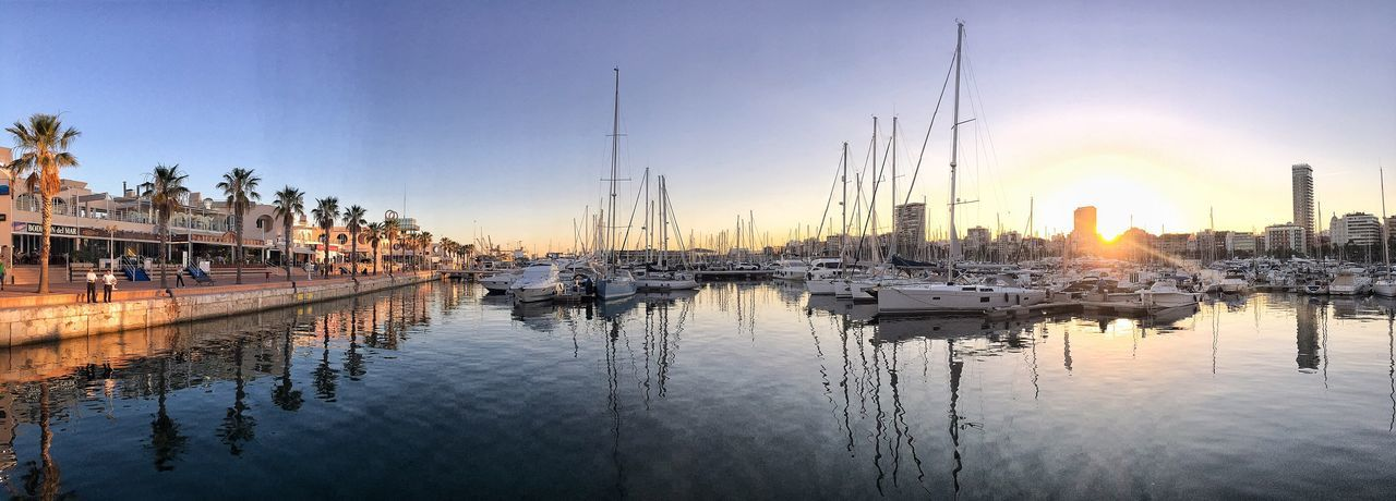 Sunset Leisure Port The 2016 Marine Photography Panoramic Photography 2016 EyeEm Awards Photo Collection Enjoying The Natural Alicante Port